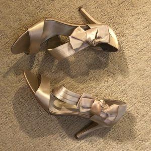 DSW Satin Bow Heels